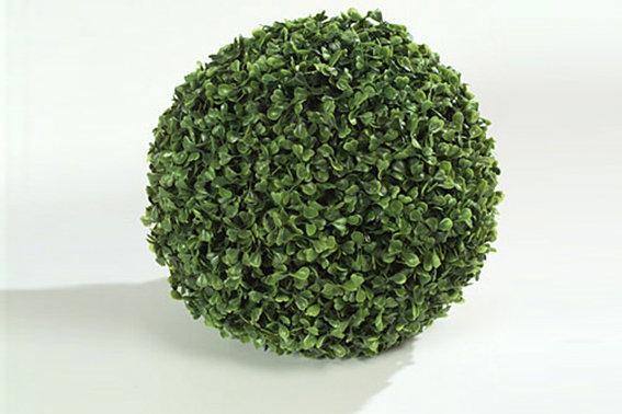 Bosso Buxus Bicolor a palla artificiale 38 cm decorazione