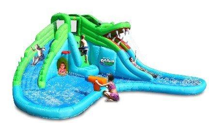 Castello gonfiabile piscina e scivolo Mr. Coccodrillo 570 cm