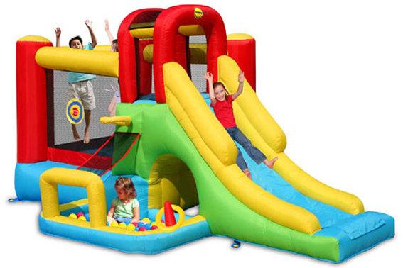 Castello gonfiabile saltarello per bambini 8 GIOCHI IN 1 400 cm