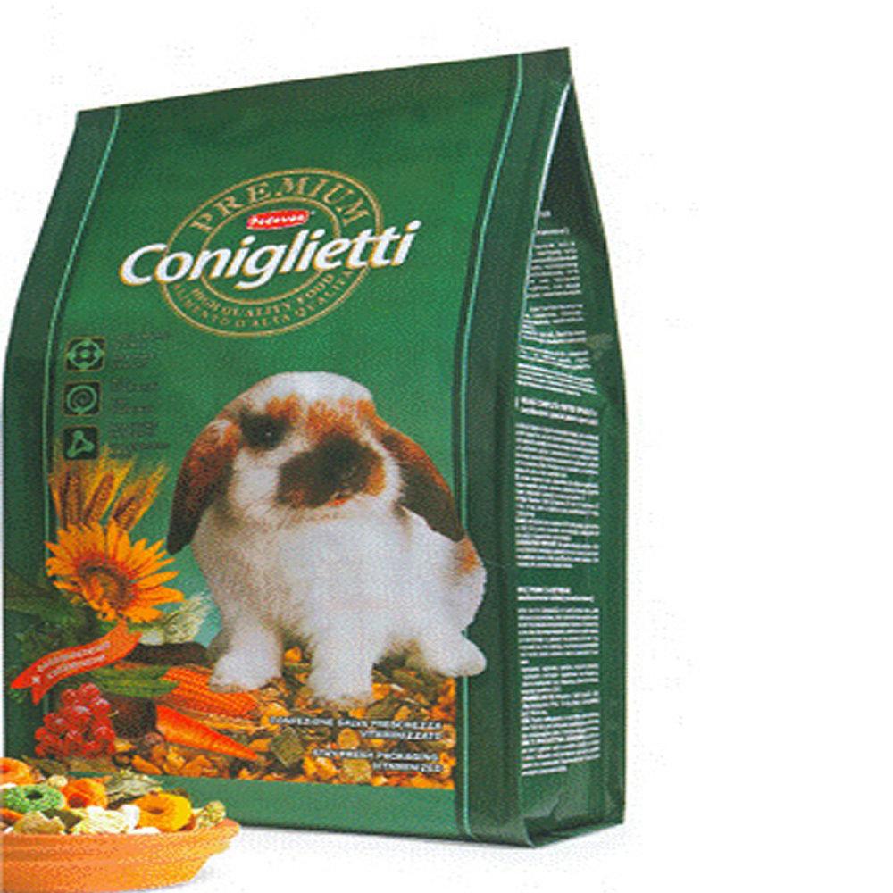 5 confezioni Mangime per conigli Padovan PREMIUM CONIGLIETTI 2 kg (10 kg)