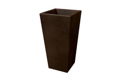 Quadrato Adige liscio moderno 58 x 58 x h 130 cm in resina