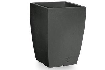 Quadrato Ontario liscio moderno h 50, 60 cm in resina