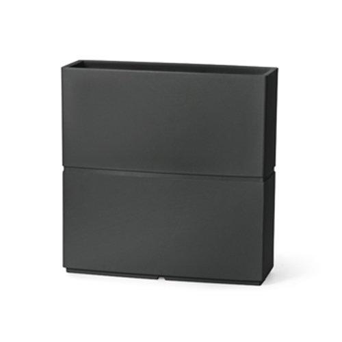 Cassetta Patio liscia moderna da 80 x 27 x h 80 cm in resina