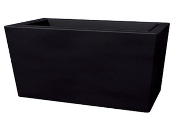 Cassetta Brenta liscia moderna da 80, 100 cm in resina