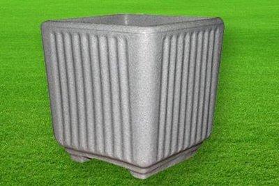 Quadrato Caspio color pietra cemento da 38, 50 cm in resina