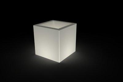 Vaso cubo Tevere luminoso 35/ 45 cm in resina