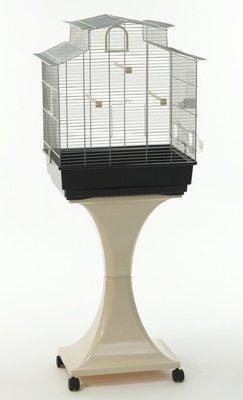 Gabbia Uccelli Canarini Giada con supporto e ruote H 128 cm