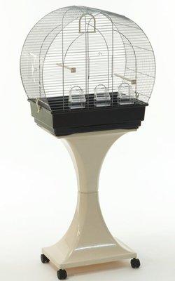 Gabbia Uccelli Canarini Arco con supporto e ruote H 128 cm