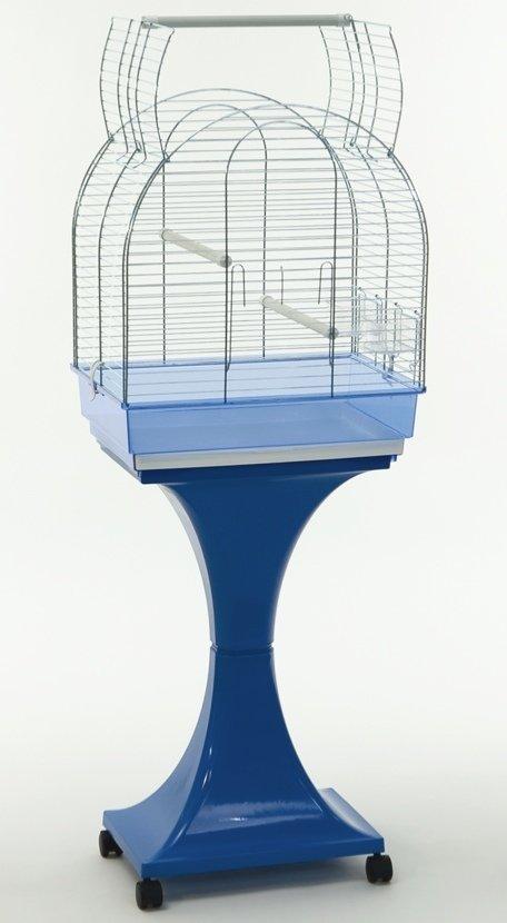 Gabbia Uccelli pappagalli Monica con supporto e ruote H 129 cm