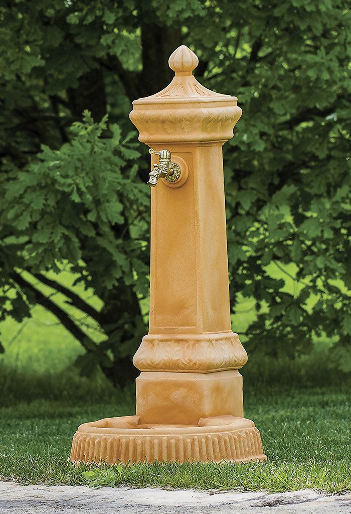 Fontana a colonna Cleo in super resina h 120 cm