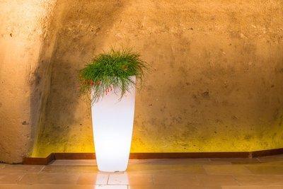 Vaso Tondo Stilo luce luminoso 33x h 70 cm