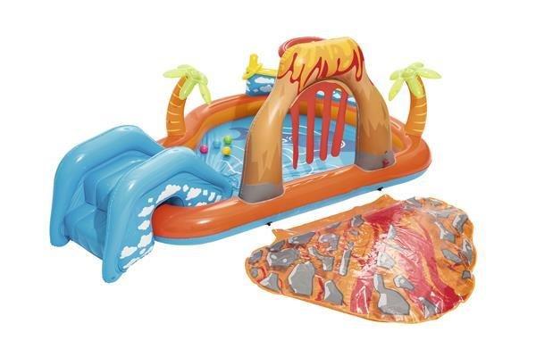 Playground piscina gonfiabile Vulcano 265x265x h 104 cm con giochi