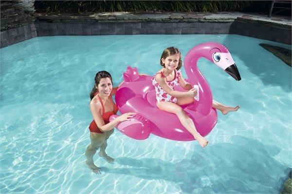 Cavalcabile gonfiabile Fenicottero rosa Bestway 135 x 119 cm