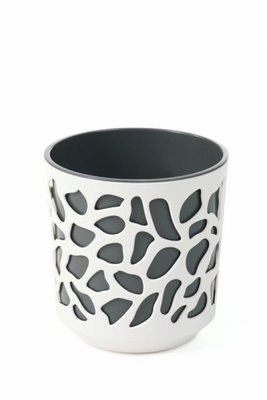 Portavaso vaso Duet 25 x h 27 cm