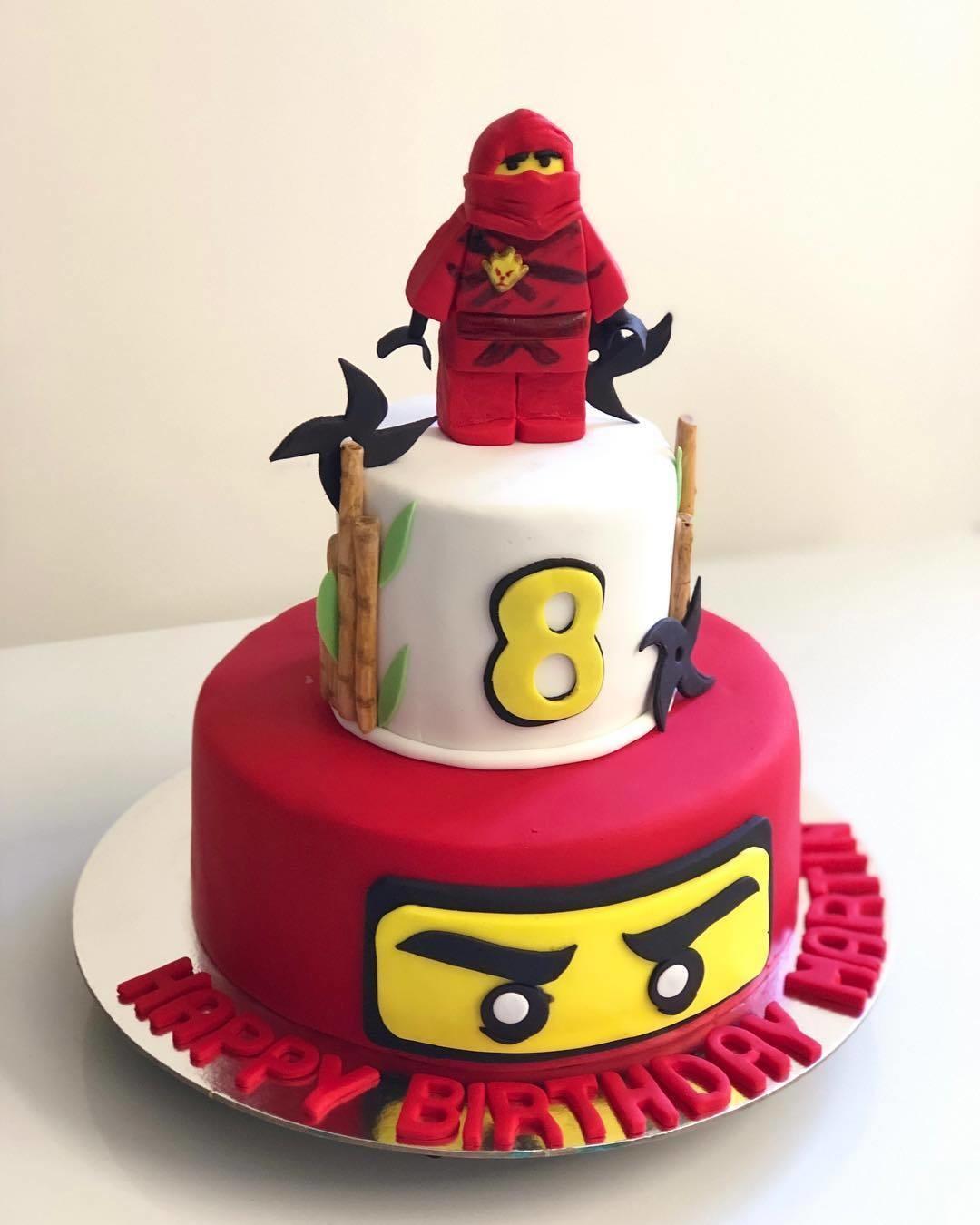 Awe Inspiring Ninjago Birthday Cake Birthday Cards Printable Opercafe Filternl