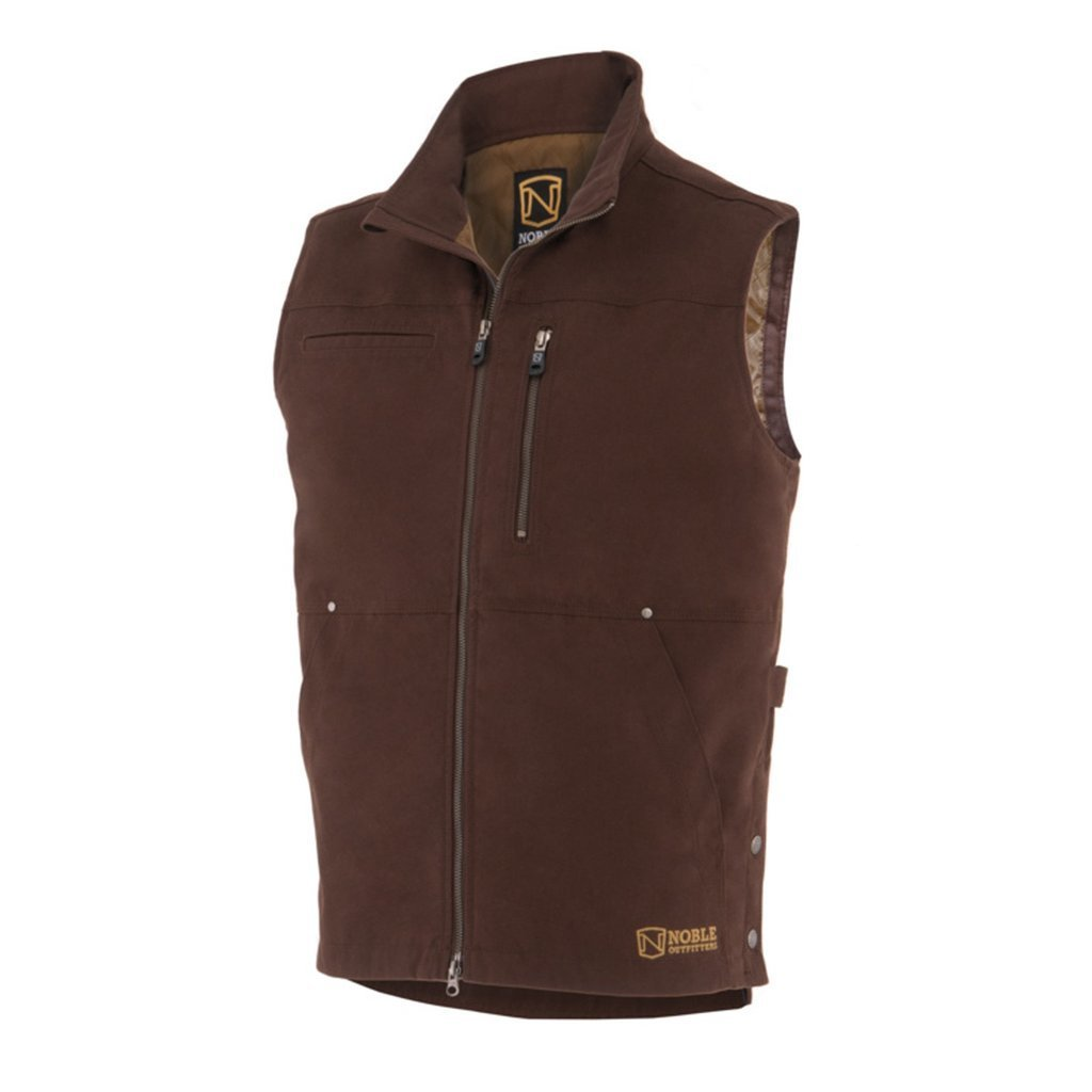Noble Ranch Tough Canvas Vest Large Dark Chocolate QVCRRWGJBT58C