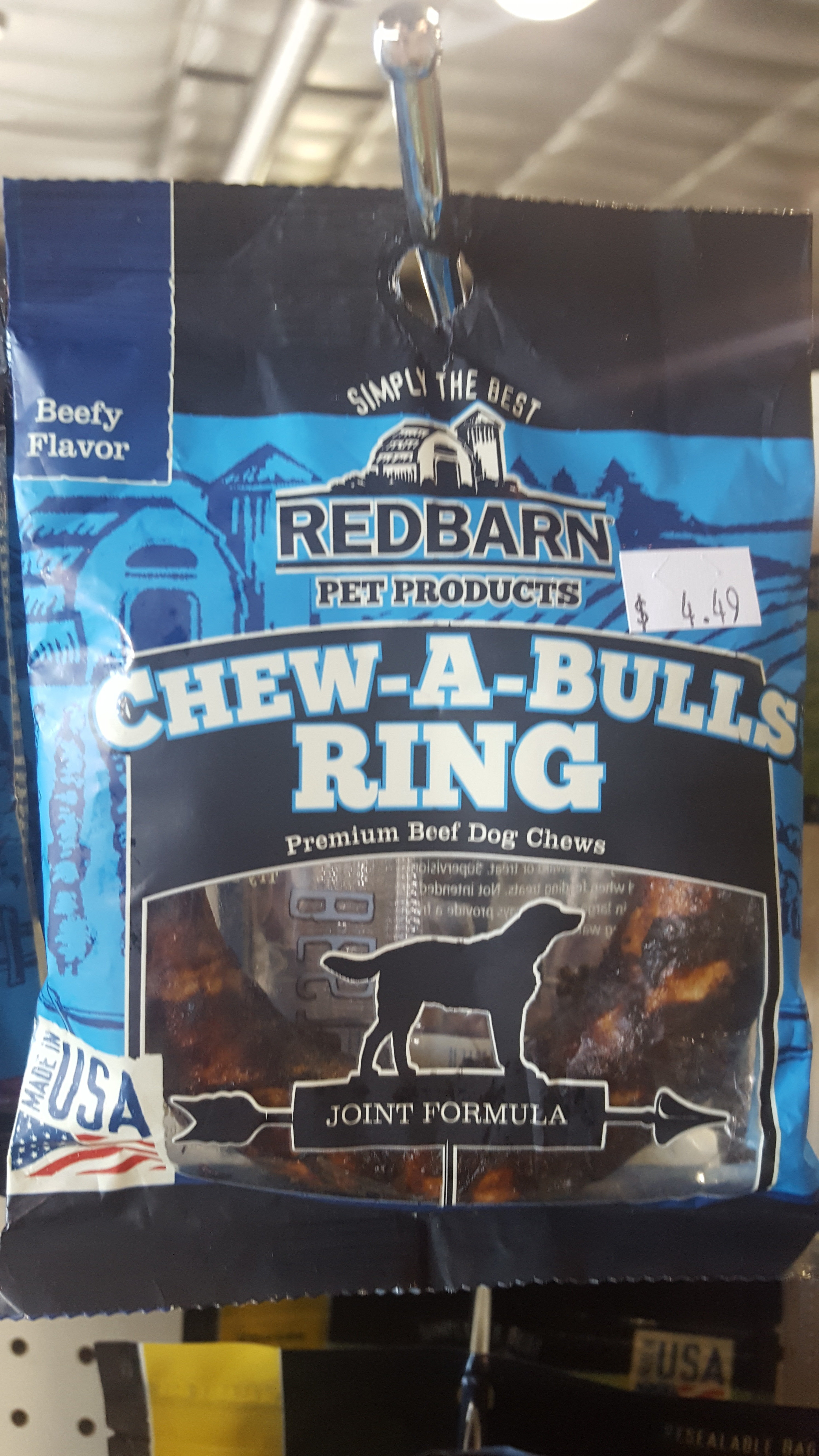 Redbarn Chew-a-bull Ring Beef Flavored 2JF0GN633FX5T