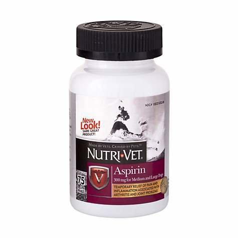 Nutri Vet Aspirin 300mg For Medium To Large Dogs 75ct Liver Flavor RCZJJC42EJVDC