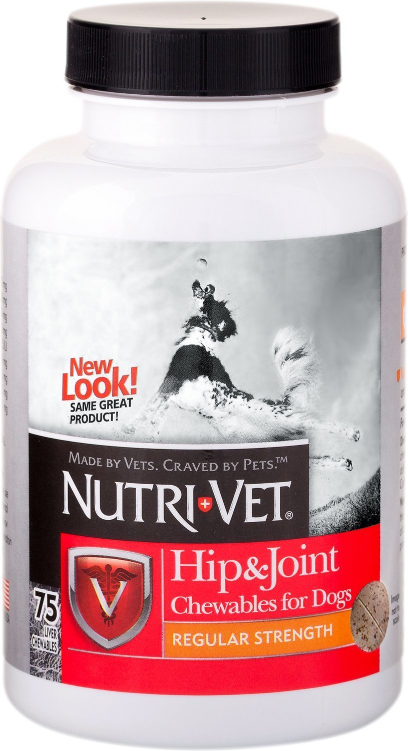 Nutri-Vet Hip & Joint Chewables For Dogs Qty.75 51271