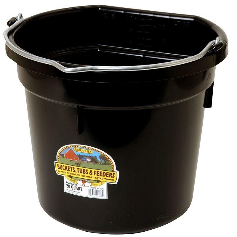 Little Giant Plastic Flat Back 20QT Bucket Assorted Colors PV91S0KRPBQA6