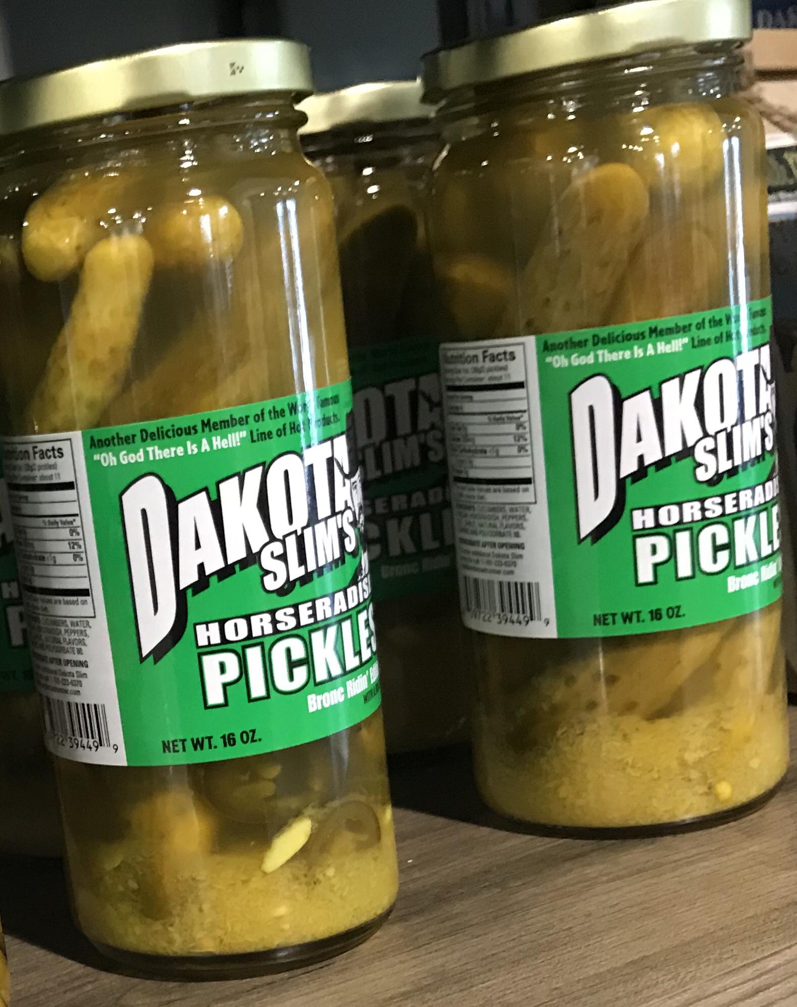 Dakota Slim's Horseradish Pickles 16oz 609722394499
