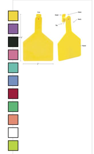 Z1 Z-tag Calf Blank Purple 25pk Sold As Each 13352001