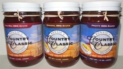 Bonnies Country Classic Original BBQ Sauce 14oz 014546184018