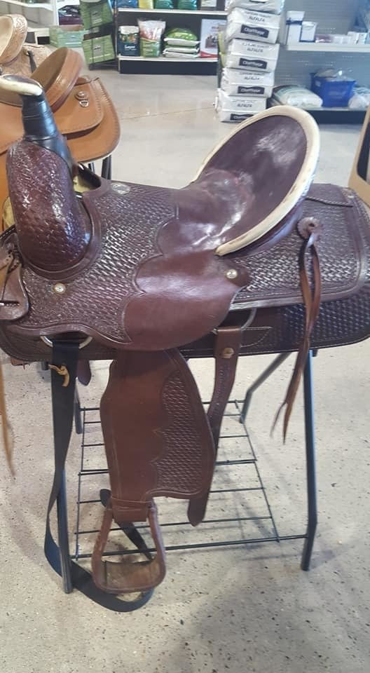 "Buffalo Saddlery Ranch Roper Saddle 16"" jz1"