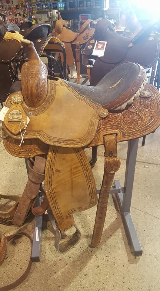 "Cactus Charmayne James Barrel Saddle 14"" 1sm"