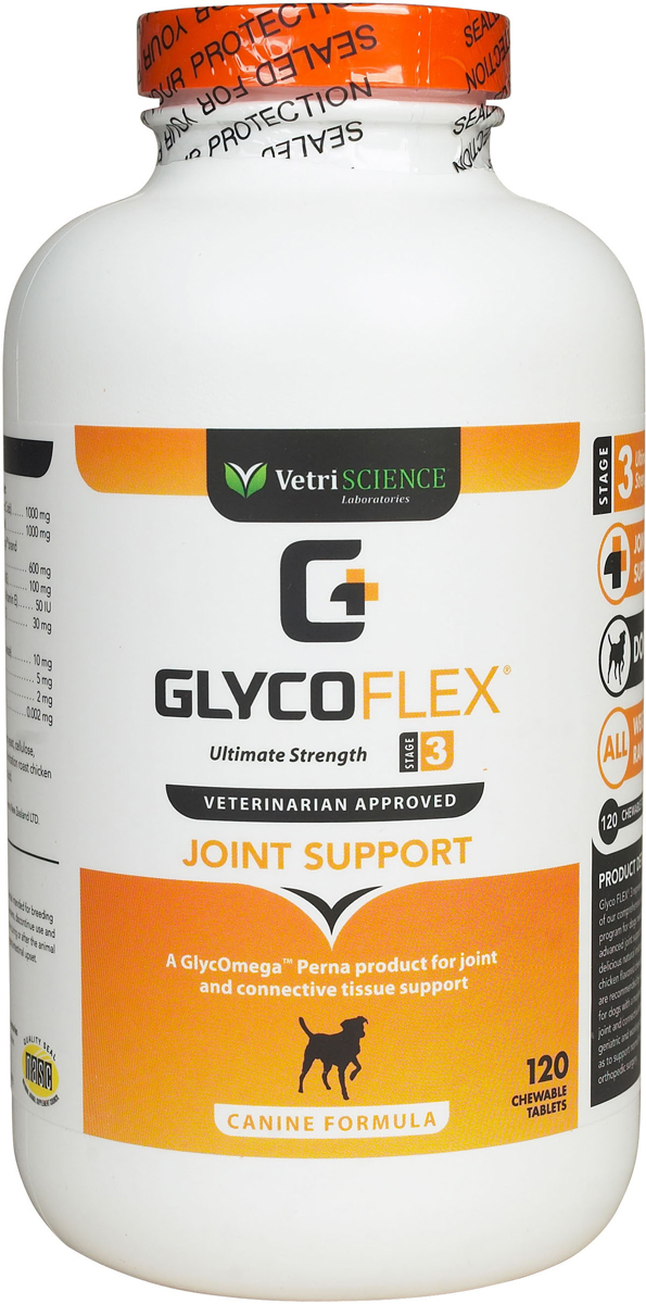 Glyco Flex-3, жевательные таблетки, для собак, уп. 120 таб. 0296 E2.6