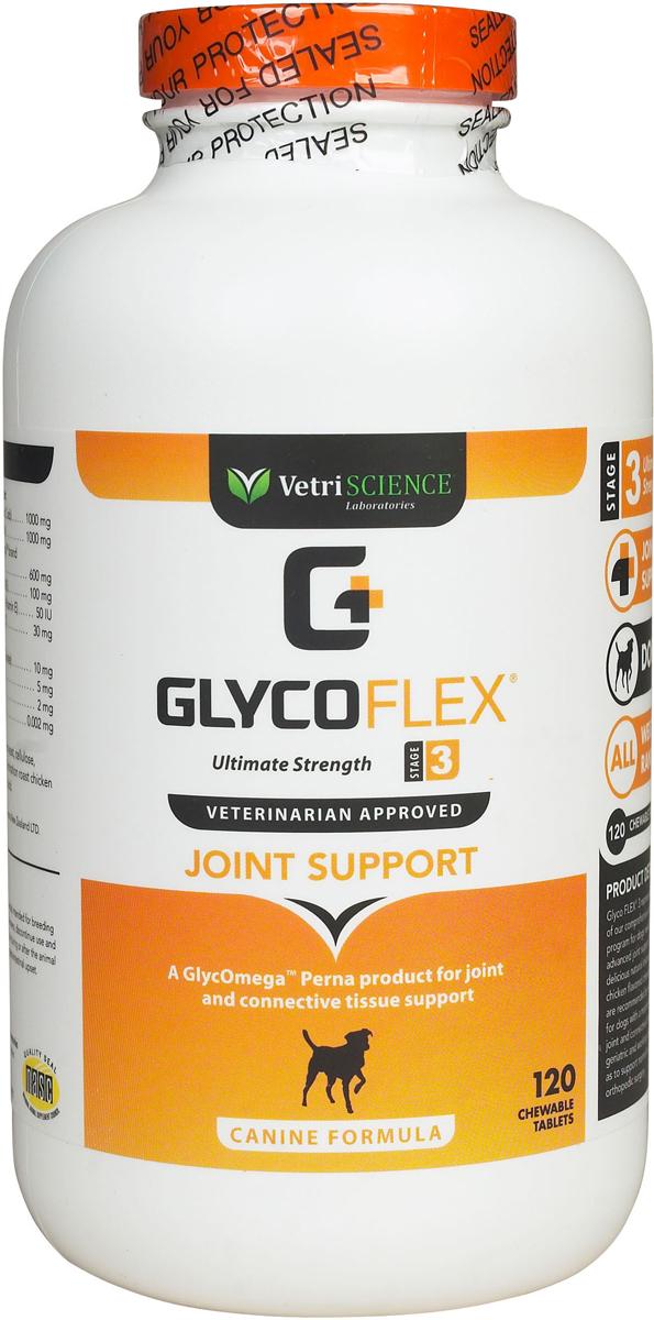 Glyco Flex-3, жевательные таблетки, для собак, уп. 120 таб.