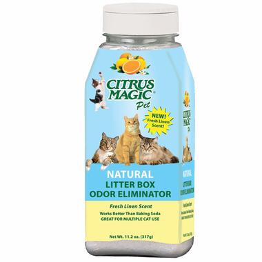 Citrus Magic Litter Box Odor Eliminator Уничтожитель Запаха для Лотка 317 г. 0118 E4