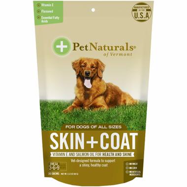 Pet Naturals Skin & Coat Chews for Dog для шерсти и кожи 30 шт