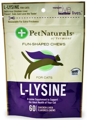 Pet Naturals l-lysine Лакомство с лизином, уп. 60 шт 0474 J4.1