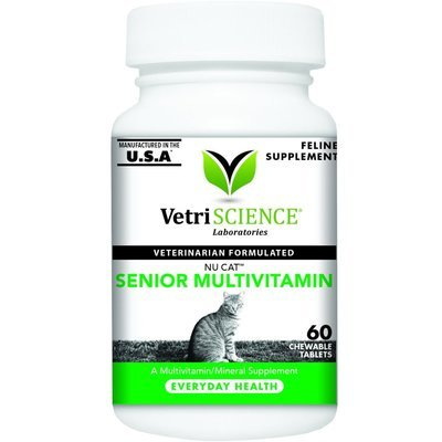 Vetri-Science Nu-Cat Senior Multivitamin, жевательные таблетки, уп. 60 шт