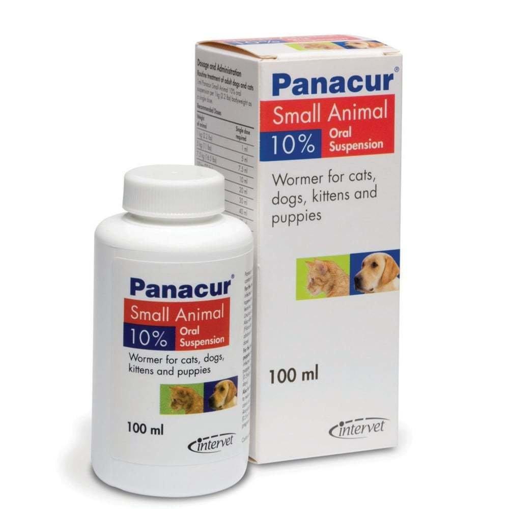 Panacur Панакур суспензия 10%, для кошек и собак, 100 мл 0322 A11
