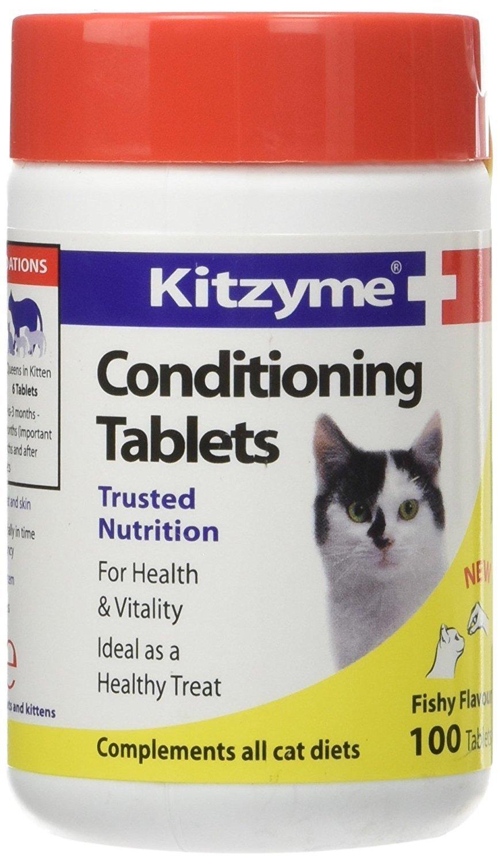 Kitzyme Conditioning Tablets  Китзим Витамины для кошек 0130 D24