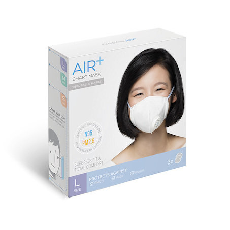N95 Mask Air+ Smart Mask (L) (1 box of 3 masks)