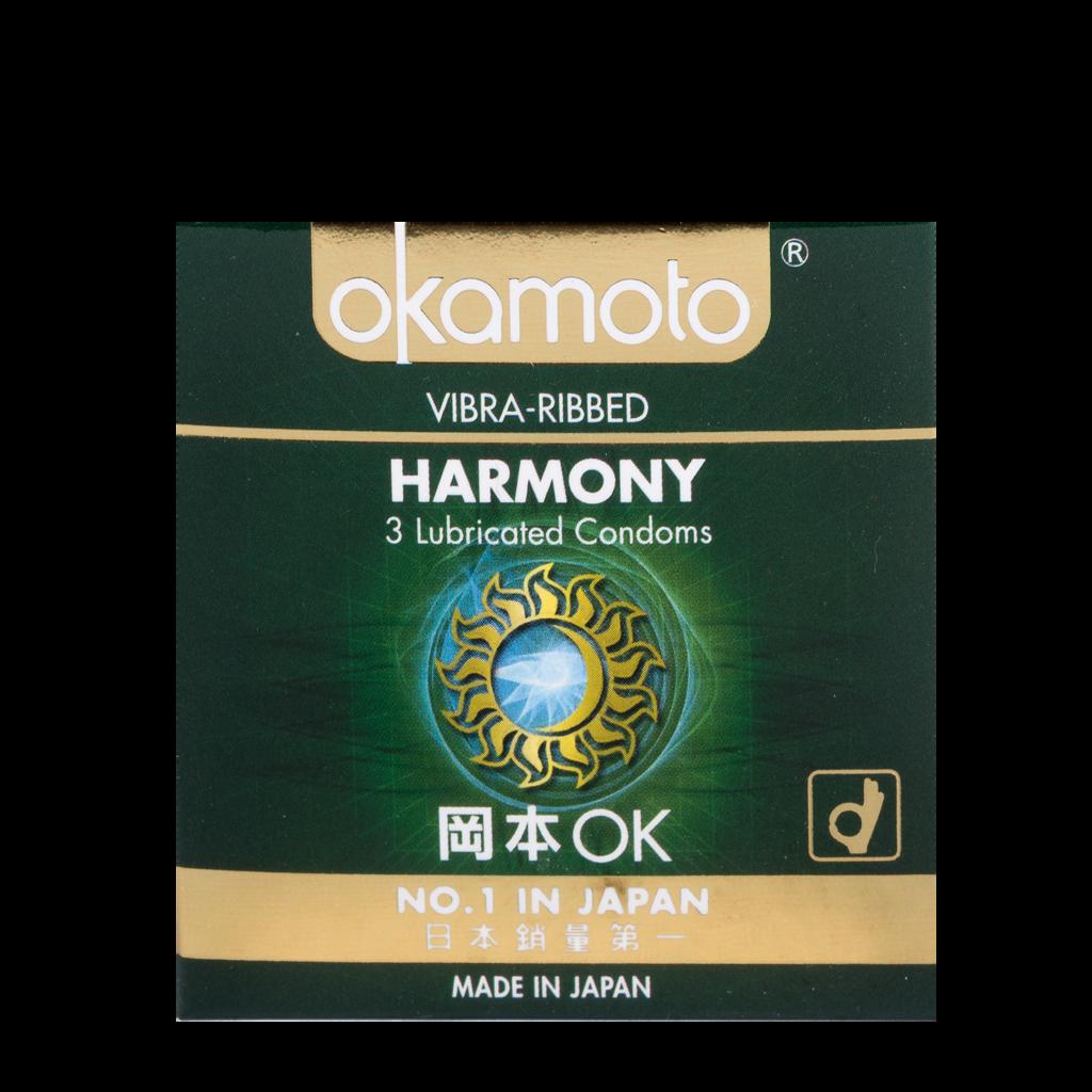 Harmony Vibra Ribbed Okamoto Condom