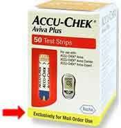 Sell Accu-check Aviva Plus 50 Count mail order/not for retail