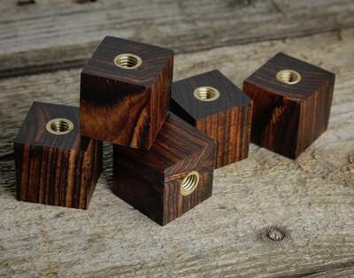 Square Cocobolo Cymbal Fasteners 5 Piece