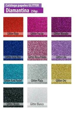 CARTULINA GLITTER - DIAMANTINA