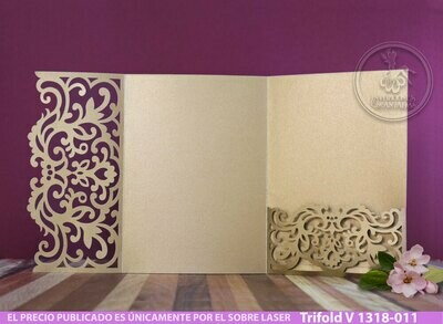 DIY Sobre de Corte Laser Trifold V 1318-011