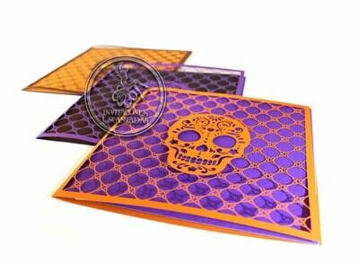 DIY Sobre de Corte Laser Dia de muertos Doblez Halloween  15-02