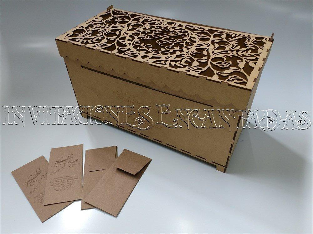 Caja de Dinero MDF + 100 Sobres de Dinero 40x20x20cms 02