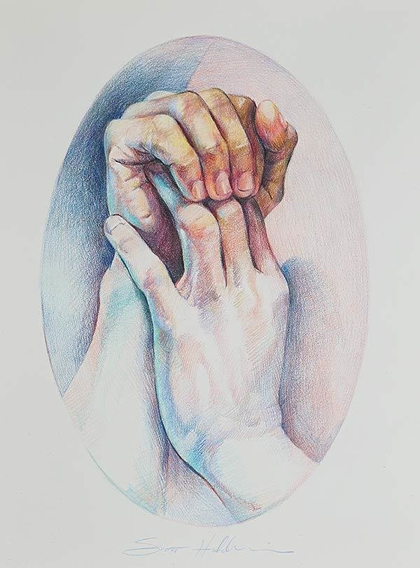 Infinity - Color Pencil Study of Hands