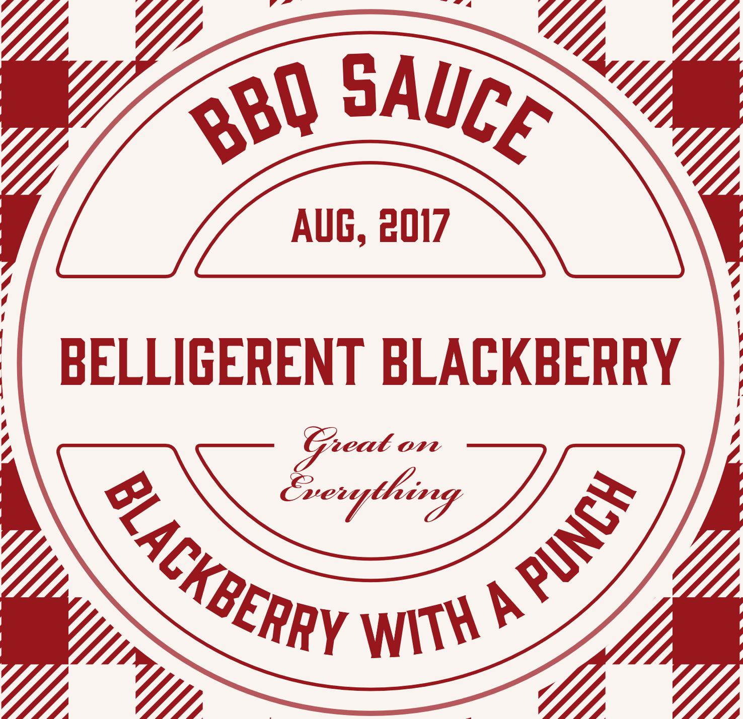 Belligerent Blackberry BBQ Sauce BB