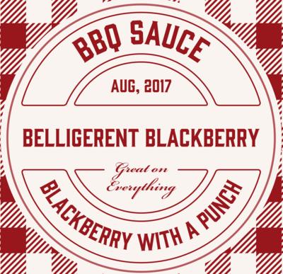 Belligerent Blackberry BBQ Sauce