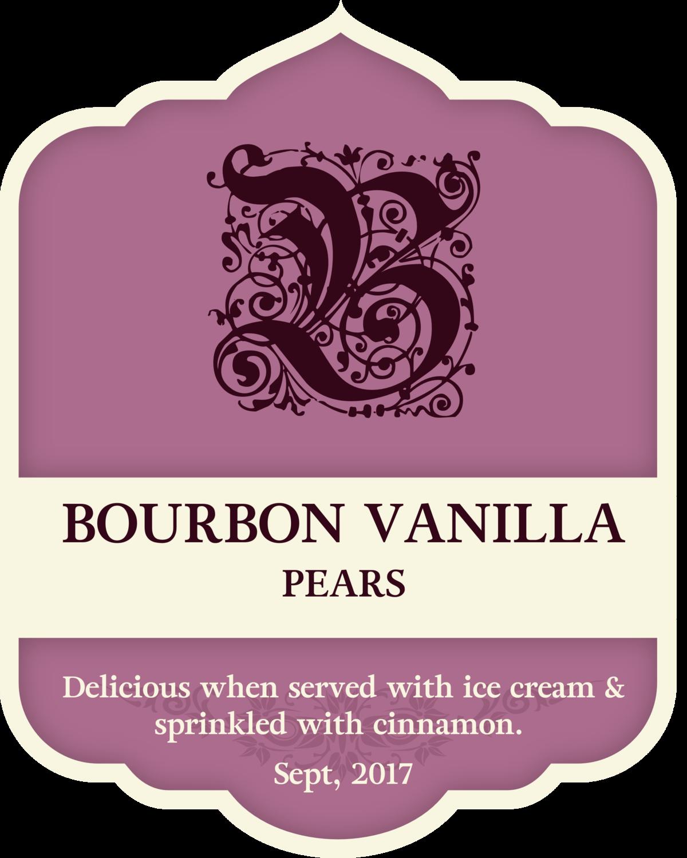 Bourbon Vanilla Pears