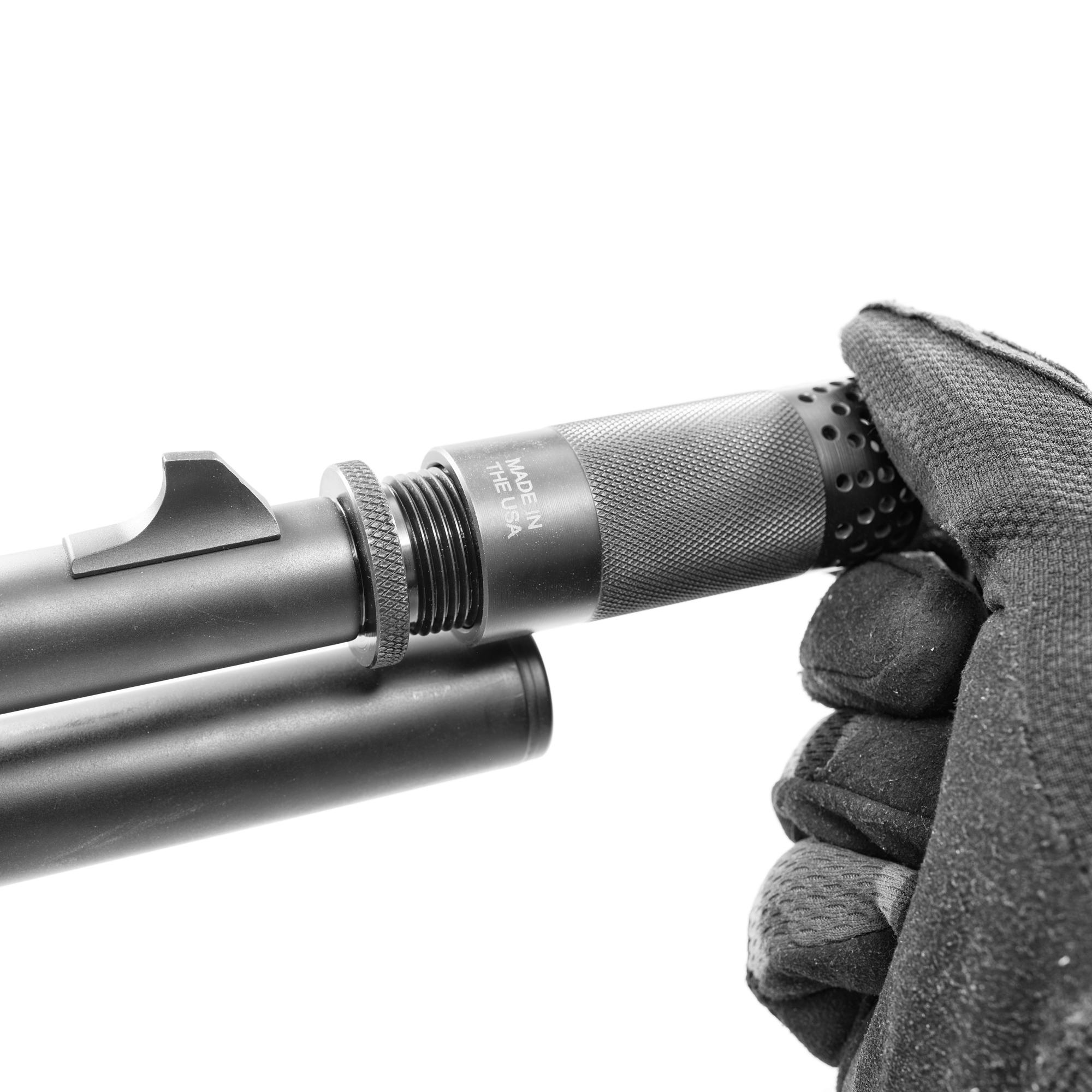 1-14 Threaded 12 Gauge Shotgun Choke Tube Muzzle Brake Shroud Adapter